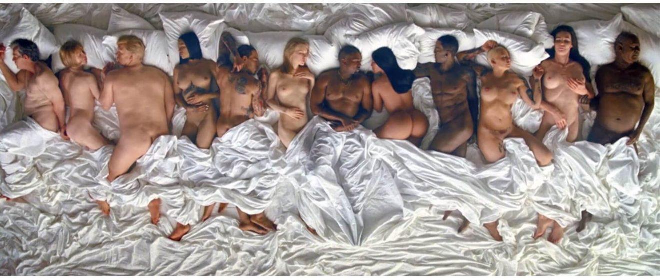 kanye west famous bed scene