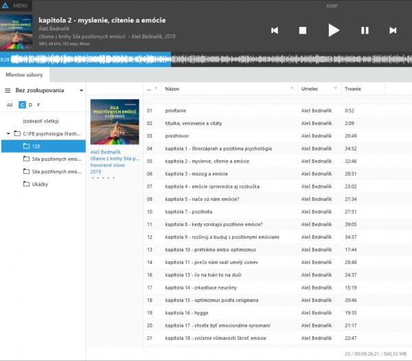 playlist audiokniha Sila pozitívnych emócií