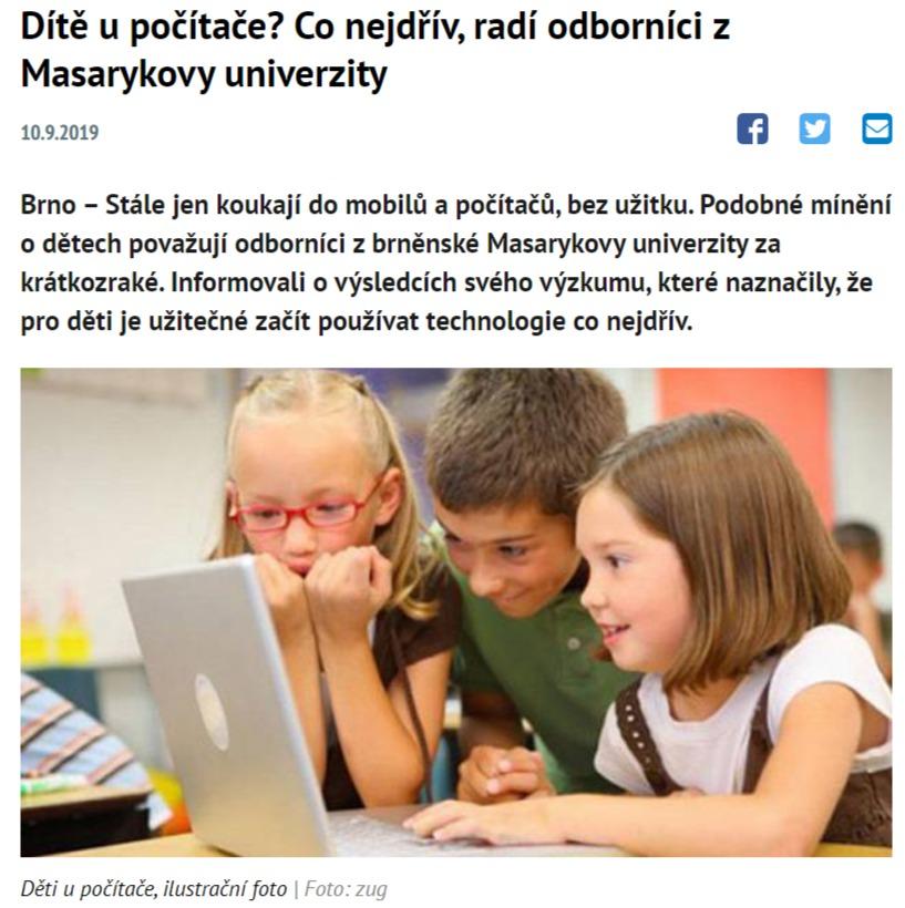 kedy majú deti začať s počítačmi