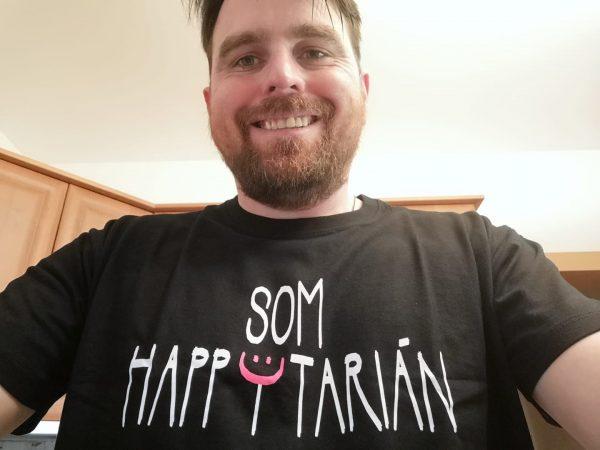 som happytarián pánske tričko XL čierne