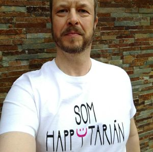 tričko happytarián biele