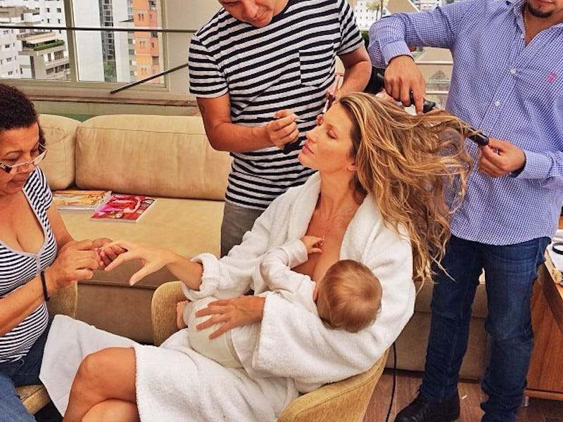 giselle bundchen breastfeeding